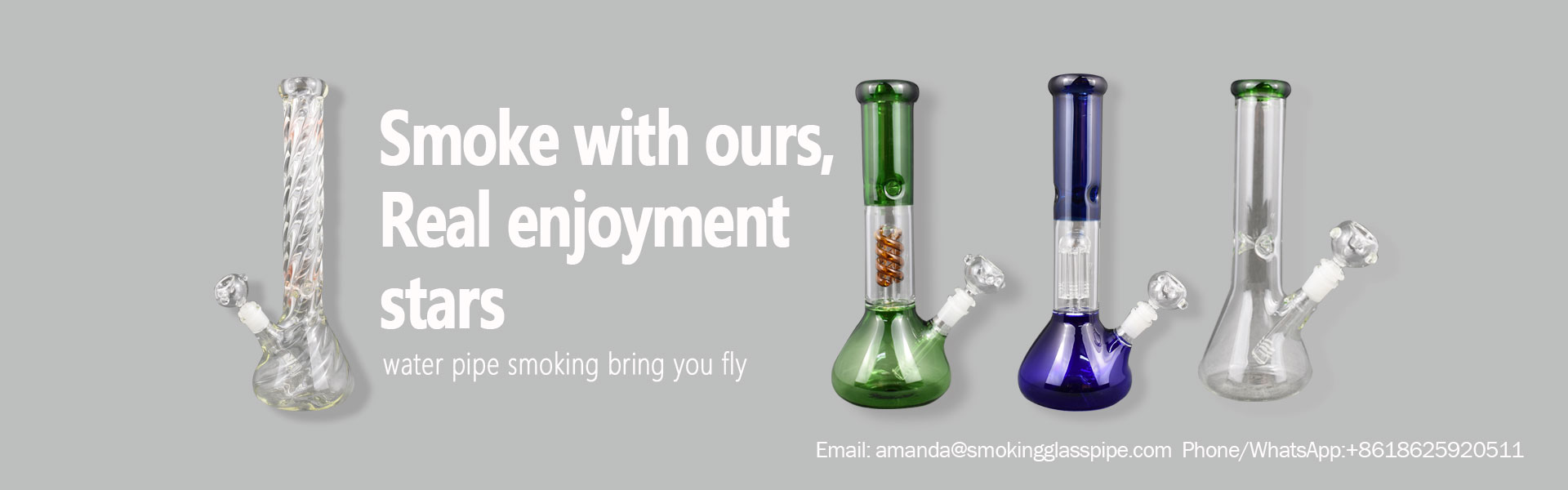 China Best Glass Smoking Pipe Bubblers Bongs Production Supplier