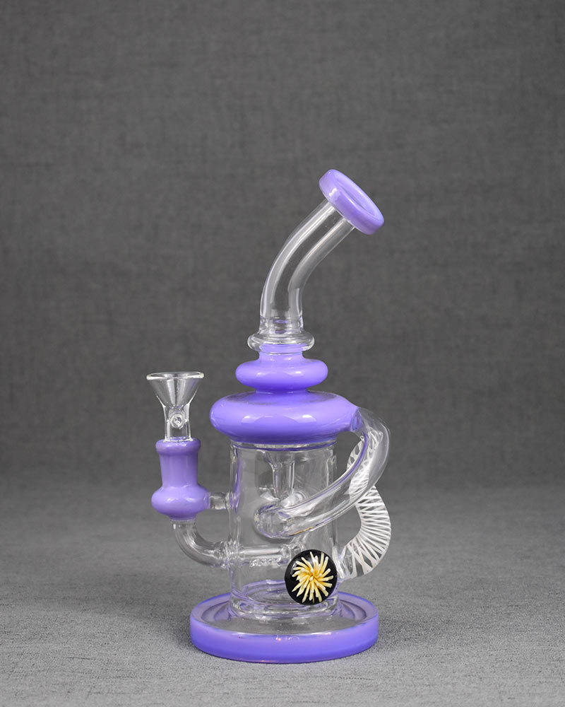 Purple Daisy Pyrex Glass Bong Cheap Price