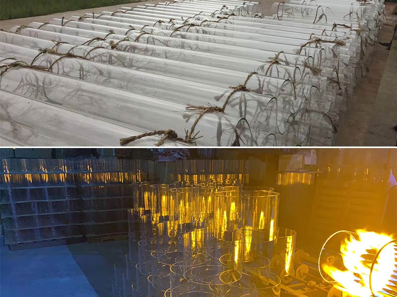 Large-diameter Fire Polished Glass Tube Stock And Export