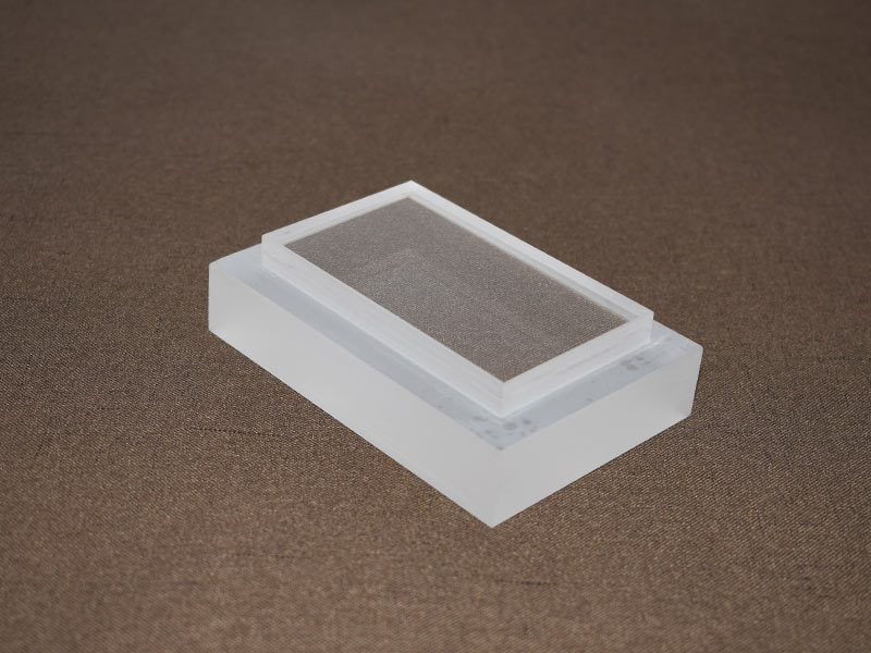 Square Quartz Plate Step Glass Plate