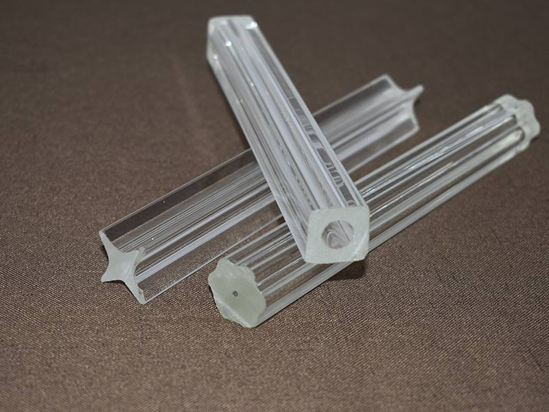 Special-shaped Glass Tube Outside Square And Inside Round Glass Tube