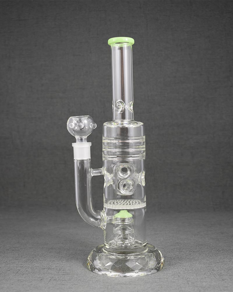 Clear Straight Glass Smoking Bong