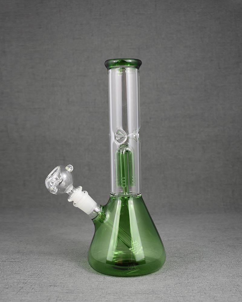 Green Glass Water Bong
