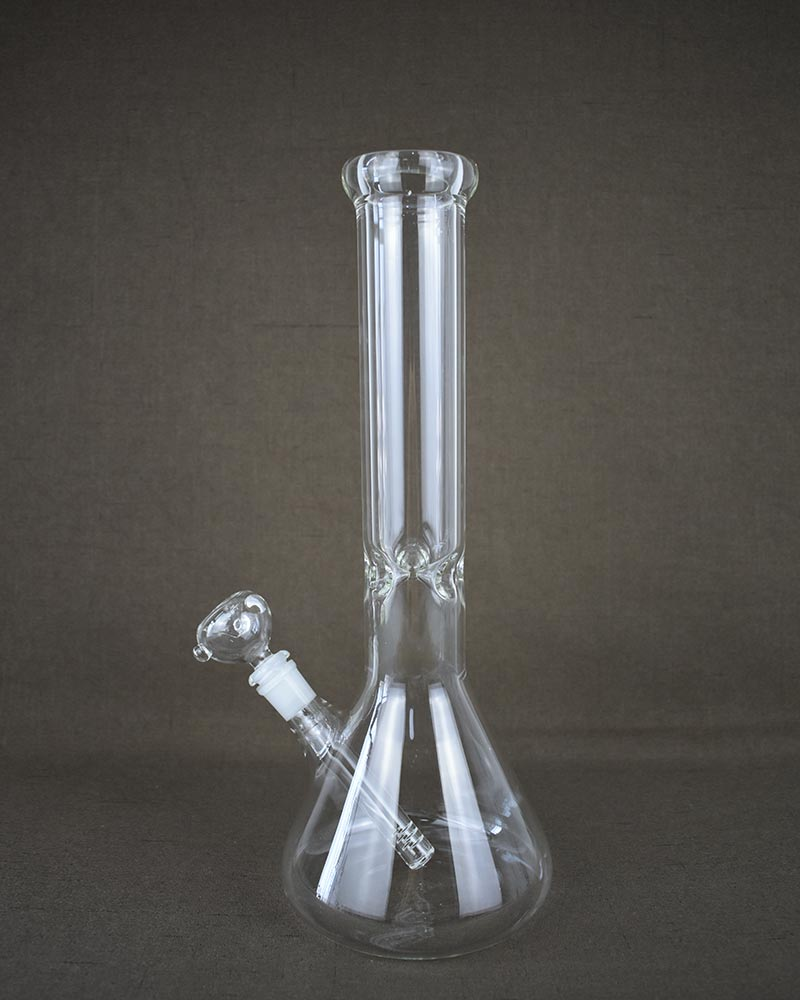 Glass Beaker Base Ice Bong 7mm 15 inches