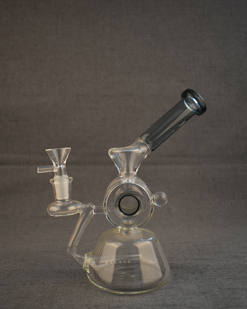 Bong Diffusion Pump Smoking Water Pipe Half Circle Bent Neck Glass Dab Rigs