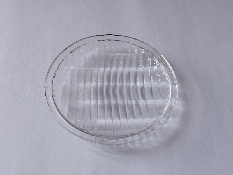 Round arc tempered soda lime glass disc