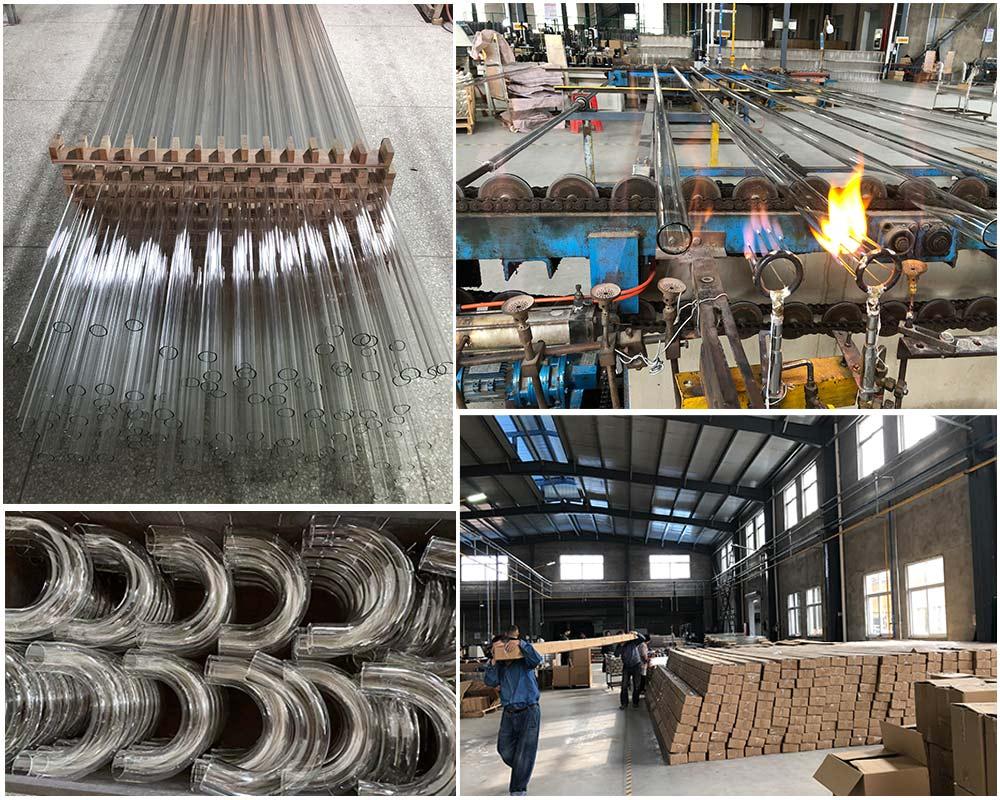 Customer buy 6m glass tube for Algae Farming factory use