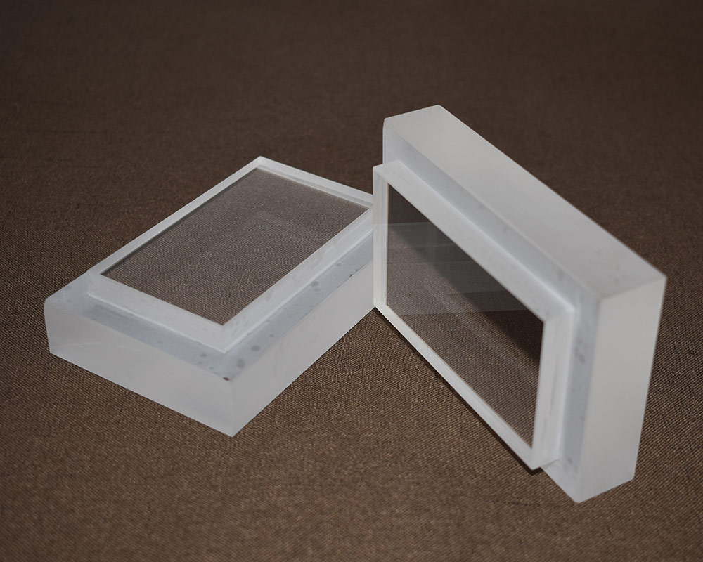 Super thick tempered sight glass for submarine