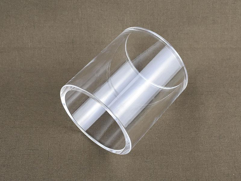 Custom Big Diameter Clear Quartz Glass Tube