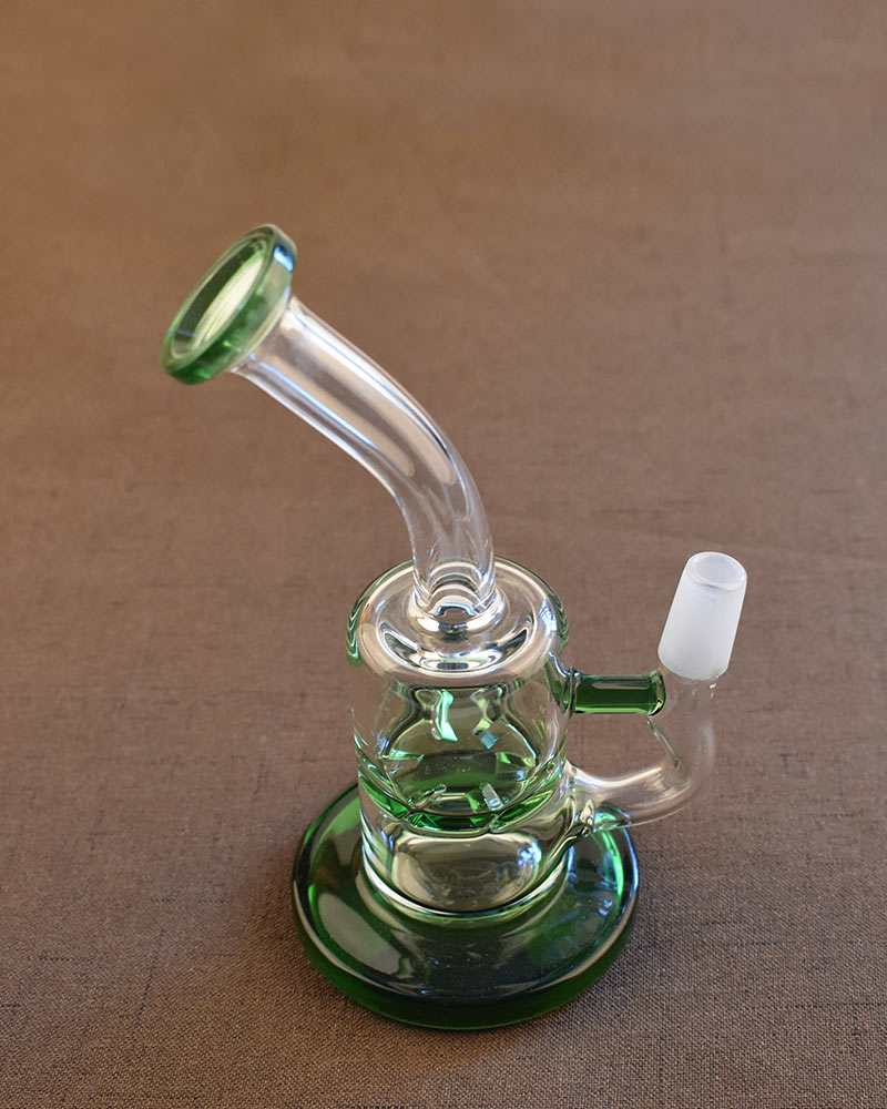 Small Dab Rig Green Smoking Pipe Water Glass